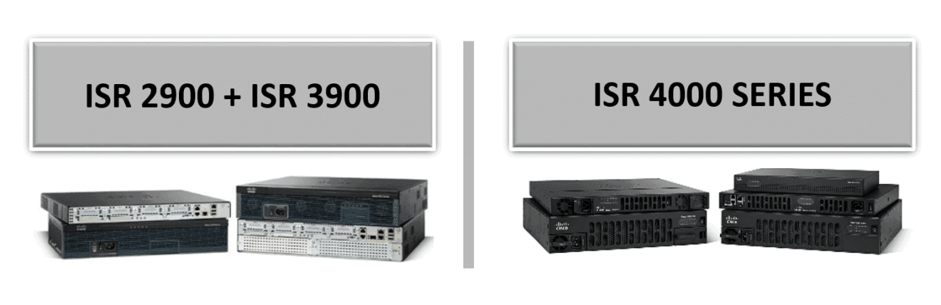 CISCO ISR 4000 SERIES substitute of the ISR 2900 and 3900 series
